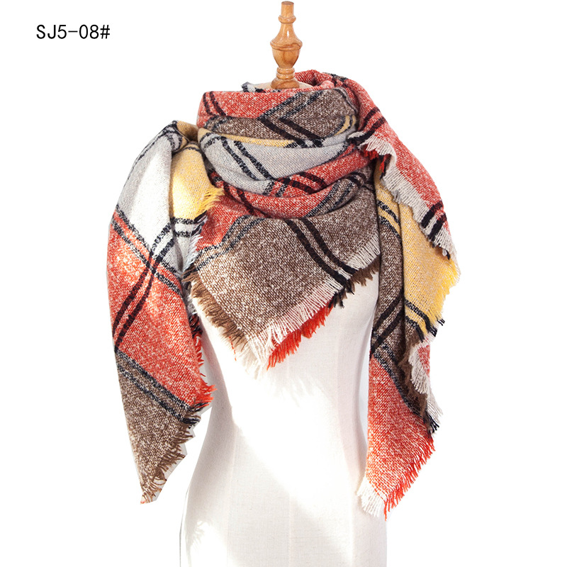2020 designer brand women scarf triangle scarves lady shawls and wraps knit blanket neck striped foulard Cashmere