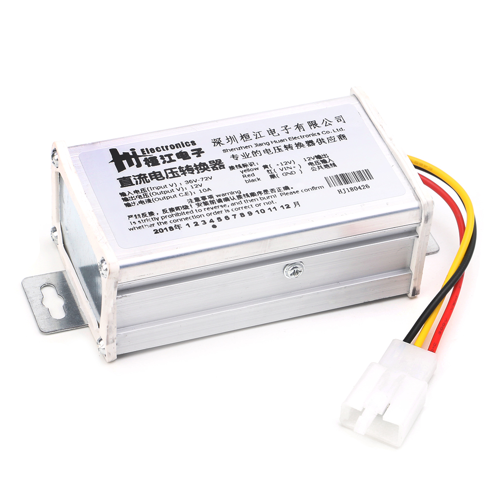 Drop Ship DC 36V 48V <font><b>72V</b></font> To 12V 10A 120W Converter <font><b>Adapter</b></font> Transformer For E-bike Electric image