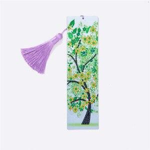 5D алмазная картина Весенняя Зеленая елка Закладка Алмазная вышивка ремесло книжка с кисточкой отметки для книг рождественские подарки