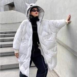 Женская хлопковая уличная одежда XUXI, толстая однотонная куртка оверсайз с капюшоном, модная зимняя куртка 2020 FZ3427