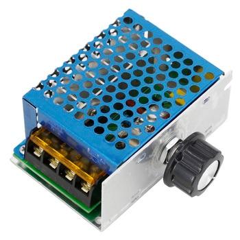 цена на 4000W High Power Thyristor Electronic Voltage Regulator Dimming Speed Regulation Temperature Regulation with Shell Gram Dial
