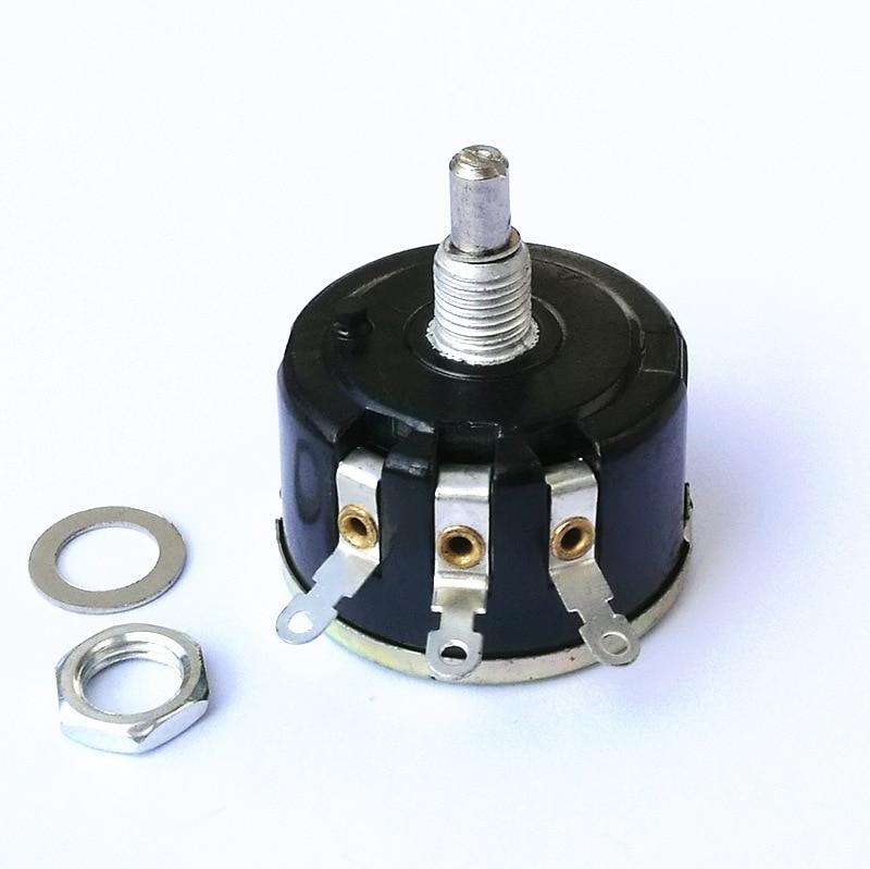 WX111(030) 6mm Shaft Dia 1K/2K2/3K3/4K7/5K1/5K6/6K8/10K/22K/33K/47K Ohm 3W Variable Resistor Wirewound Potentiometer  1PCS