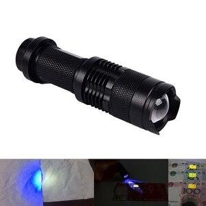 Светодиодный УФ-фонарик, ультрафиолетовый фонарик 395 нм, Ультрафиолетовый светодиодный фонарик для проверки маркеров