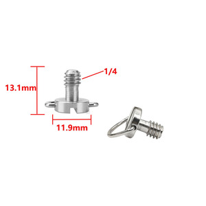 Image 5 - Винты с D образным кольцом 10 шт./лот 1/4 дюйма для штатива цифровой зеркальной камеры с быстроразъемной пластиной