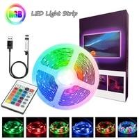 RGB 5M LED Streifen Licht Für Schlafzimmer Hintergrund TV Band USB Flexible Dekoration Diode Lampe String Fernbedienung Licht string