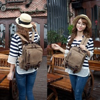 Casual Canvas Backpack Women College School Laptop Rucksack Travel Small School Bags For Teenage Girls