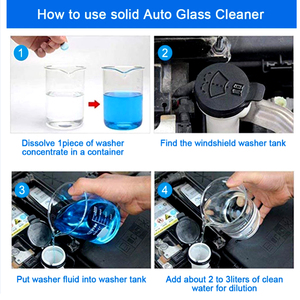 Image 4 - 20ชิ้น/แพ็ค (20PCS = 80L น้ำ) ใบปัดน้ำฝนกระจกรถยนต์กระจกรถยนต์เครื่องซักผ้าอัตโนมัติ Solid Window Cleaner เม็ดฟู่รถอุปกรณ์เสริม