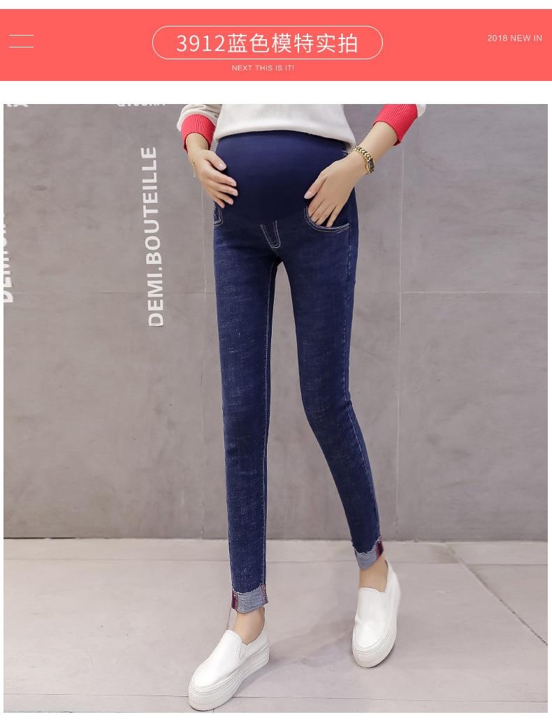 Roupas Femininas Gravidez Denim Calças Stretch Skinny Jeans Leggings Grávidas