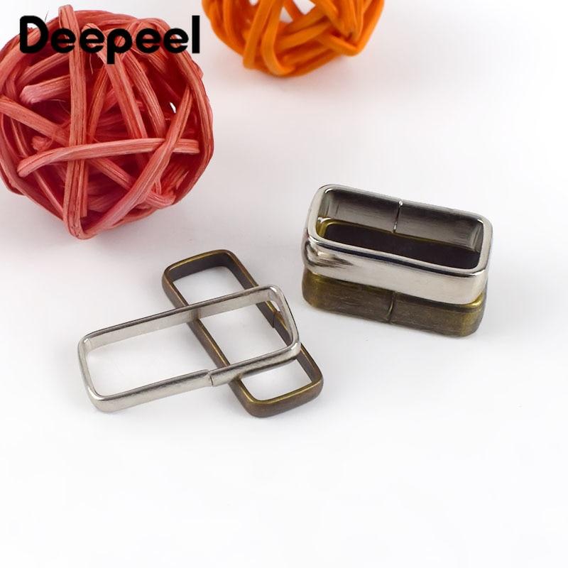Deepeel 20pcs 20/25mm Manual Belt Loop Copper Silver Belt Ring Buckle DIY Leather Crafts Webbing Strap Hook Accessory YK030