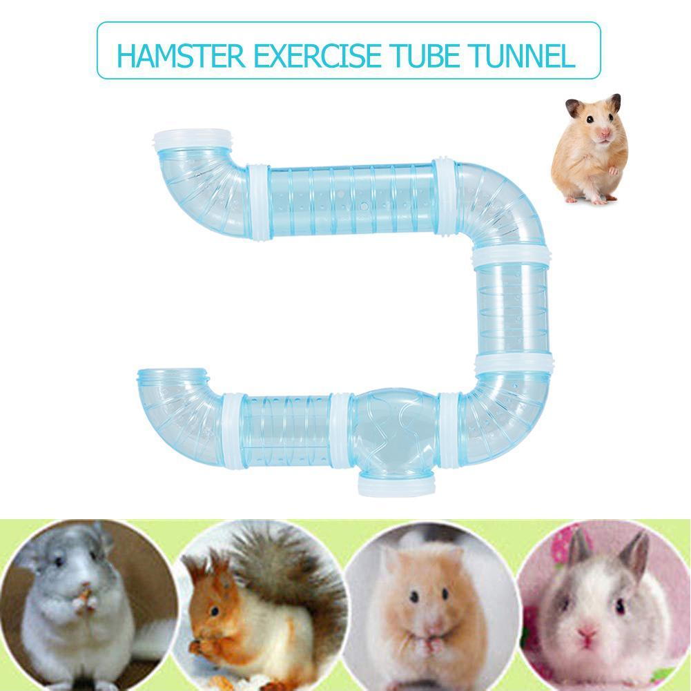 DIY U-type Plastic Pipe Line Tube Training Playing Connected External Tunnel Toys for Small Animal Hamster Cage Accessories