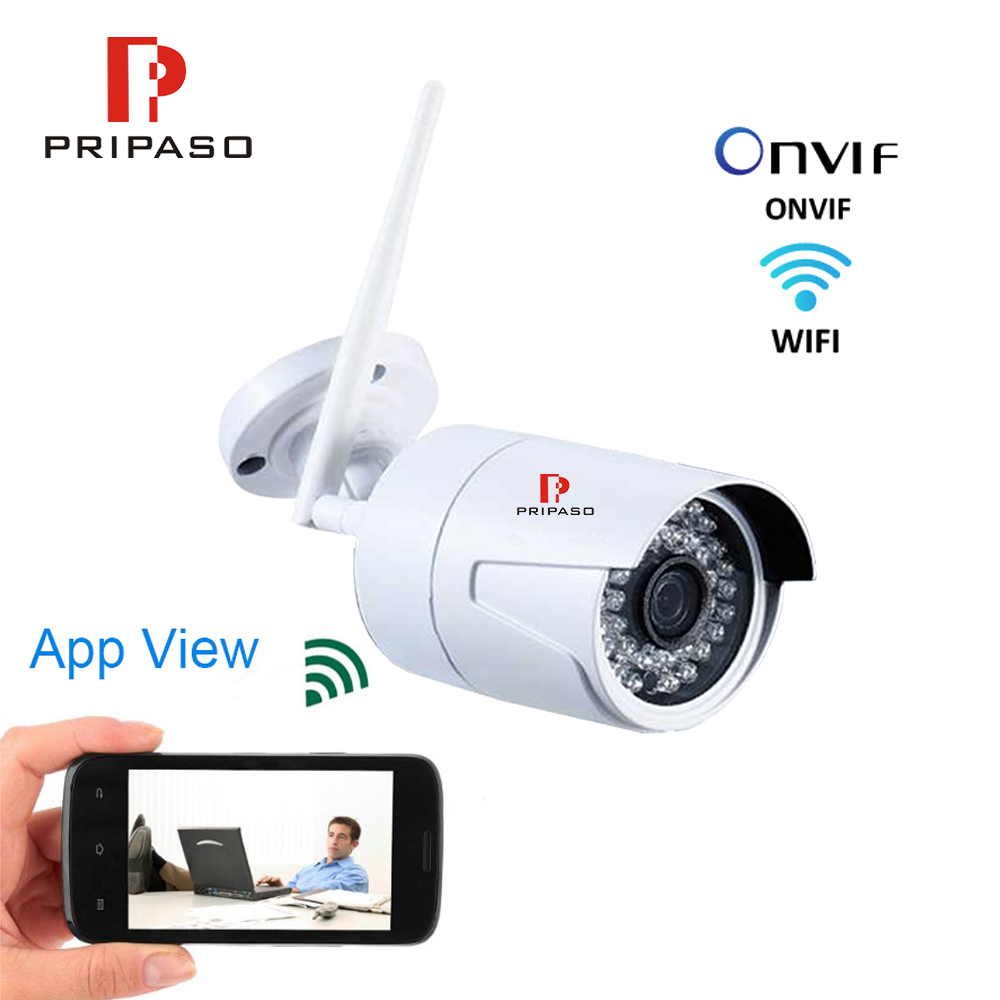 Pripaso Wifi Camera Outdoor Wireless Bullet Camera 1080P Wifi Surveillance Camara Night Vision Remote Monitoring CCTV Camera