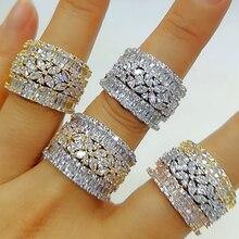 GODKI bagues à forme géométrique audacieuse pour femmes, bijoux de mariage, fiançailles, accessoires en zircone cubique