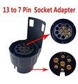 От 13 до 7 Pin трейлер Разъем 12V буксировочный адаптер штепсельная вилка прочный водонепроницаемый Штепсель адаптер защищает соединения