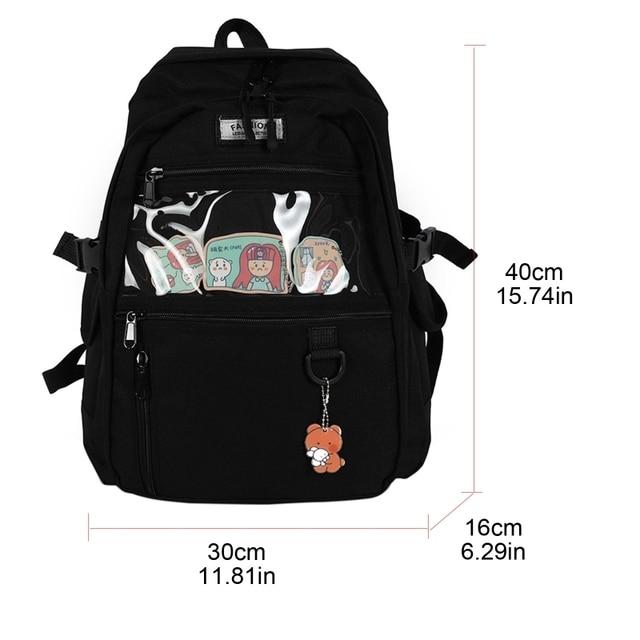 Фото женский рюкзак повседневный школьный для школы дорожный девочек
