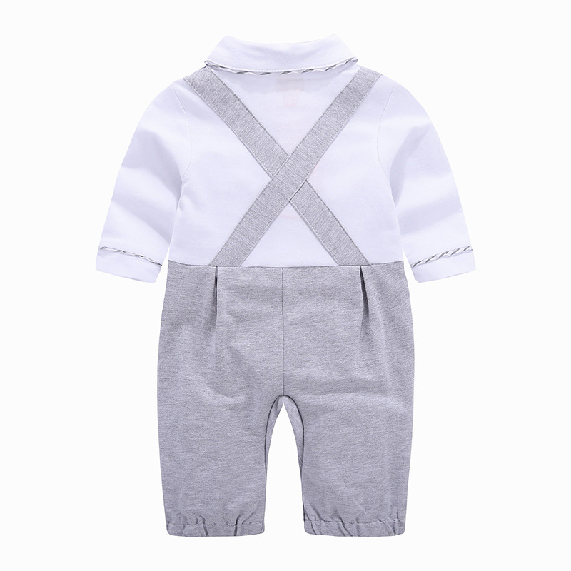 Baby Romper Spring Summer Gentleman Newborn Jumpsuit Clothes Baby Boys Clothes Long Sleeve Kid Costume For Baby Overalls Clothes