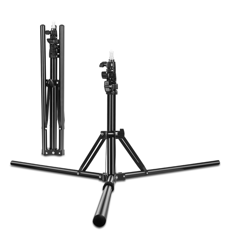 72inch/184CM Photography 1/4 Screw Foldable Light Stands Tripod For Ring Light, Relfectors, Softboxs, Umbrellas, Background