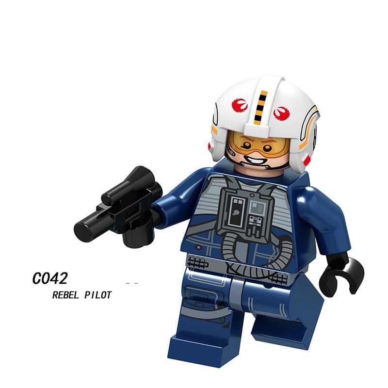 Single Sale SW  LegoINGlys Figures Blocks Star War Stormitrooper Rebel Pilot First Order Flametrooper Trooper Toys Children C042
