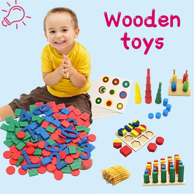Kids Wooden Montessori Toys Memory Match Stick Educational Color Cognitive Geometric Shape Puzzles Toys For Children 3