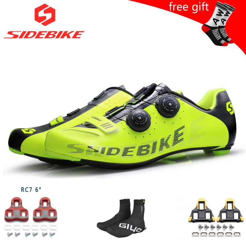 Professional Road Cycling Shoes Men SPD Cleat Pedal Bicycle Sneakers Black Green