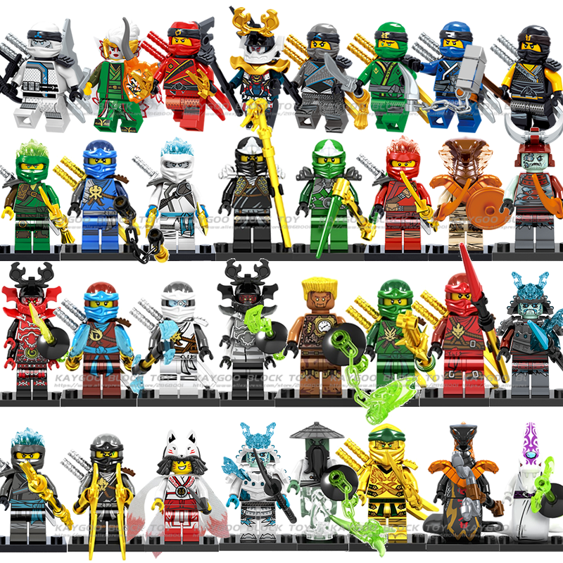 1pcs Cole Jay Zane Kai Lloyd Nya Ninja Mini Action Figures Building Blocks Kids Toy Gift Compatible Legoinglys Ninjagoed For Kid