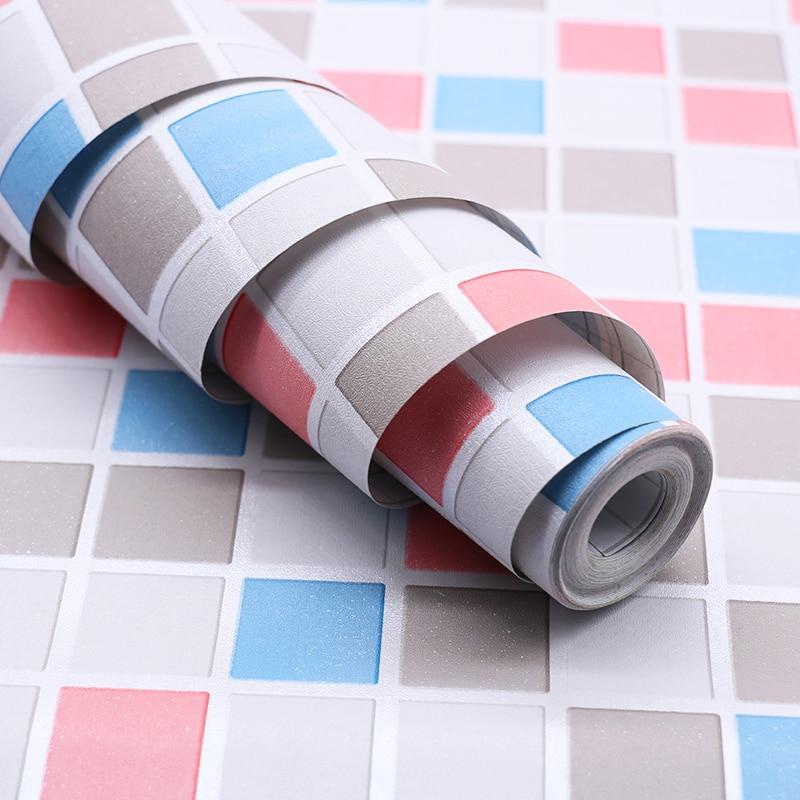 Nouveau 10m * 90cm auto-adhésif mosaïque papier peint papier peint cuisine toilette étanche salle de bain carrelage meubles autocollants