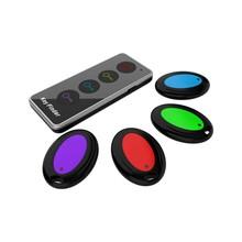 KF04A lokalizator kluczy Bluetooth Tracker inteligentne urządzenie anty zgubione tagi GPS Keyfinder Mini bezprzewodowy KeyFinder wielofunkcyjny przeciągnij cztery tanie tanio Eshowee CN (pochodzenie) KF04A Wireless Search Gotowa do działania na koncert 12 kanałów i up