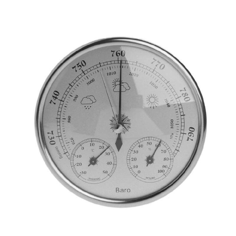 130 мм атмосферное давление Температура гигрометр Метеостанция три в одном барометр пленка металлическая коробка барометр 83XA