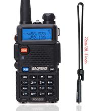 BaoFeng UV 5R Walkie Talkie VHF/UHF136 174Mhz & 400 520Mhz Dual Band iki yönlü telsiz Baofeng uv 5r el telsizi uv5r
