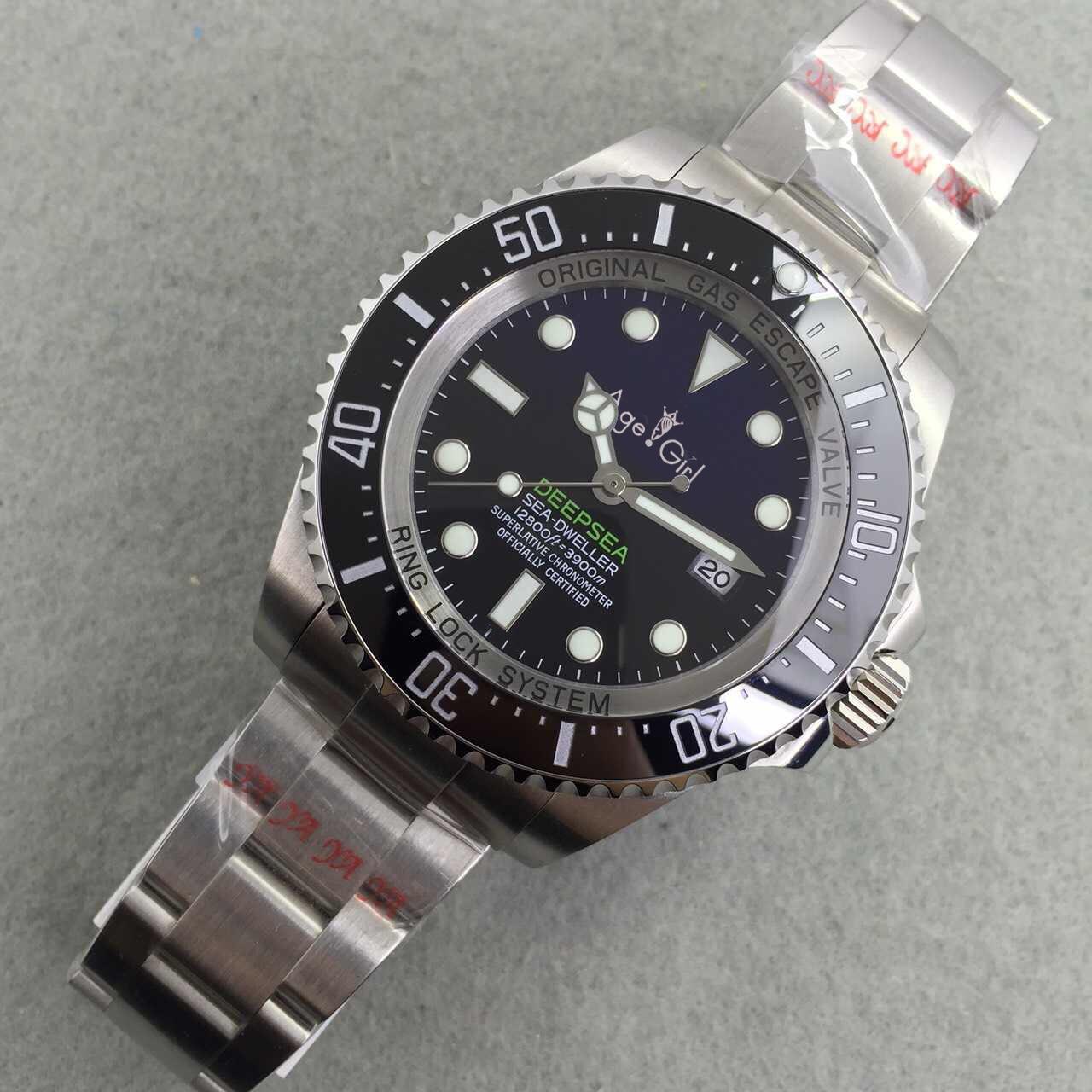 Luxury Brand New Men Ceramic Bezel Stainless Steel Automatic Mechanical Black Blue Green Casual Sapphire Deepsea Watch AAA+ 44mm