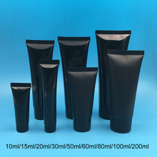 30pcs Black 10ml 30ml 50ml 100ml 200g Plastic Soft Tube Matte Empty Squeeze Bottle Shampoo Lotion Cream Container Free Shipping