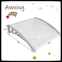 1Pc Door Canopy Awning Shelter Porch Front Rain Roof Back Patio Outdoor Shade Cover Rain Protection Preservative DIY Awning HWC