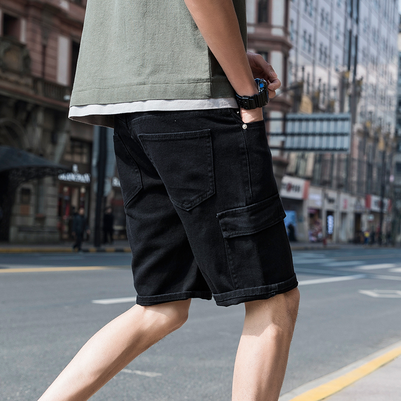 Fashion Men Casual Shorts Summer Loose Cargo Shorts Thin Cotton Short Pants Streetwear With Pockets Roupas Mens Clothing XX60MS