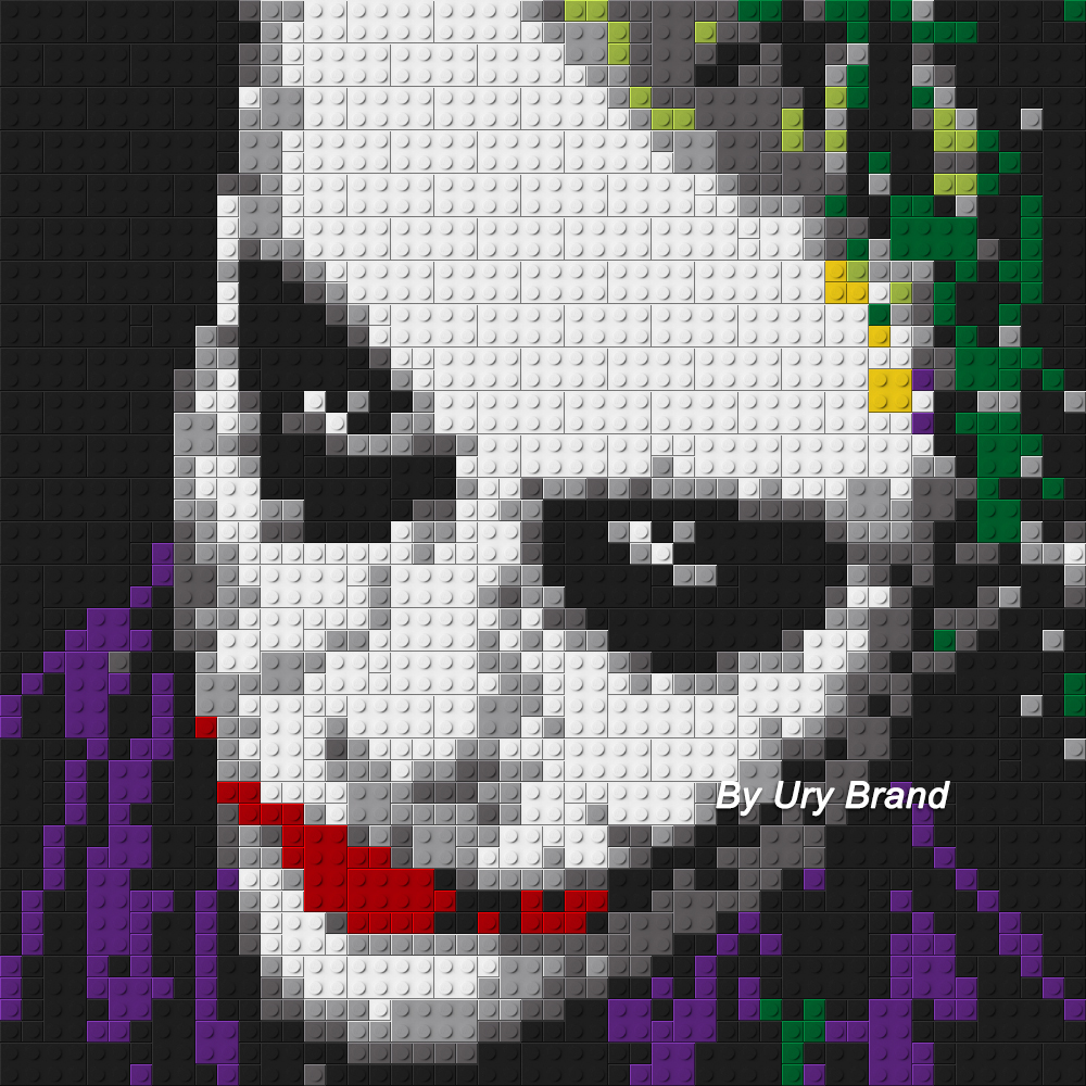 DIY Bricks Joker Mosaic Pixel Art Cartoon Decorative Pop Painting By Numbers MOC Building Blocks Toys Boys House Creative Gift