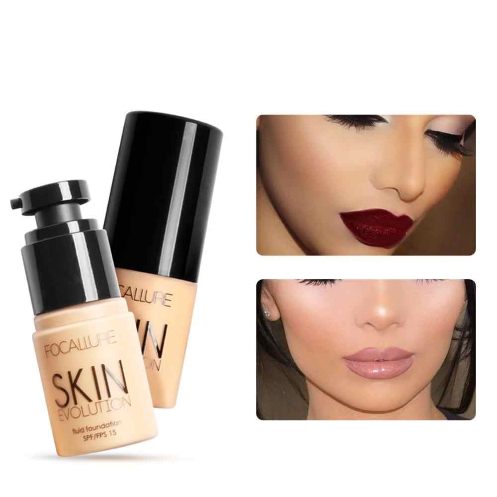 Focallure Liquid Foundation Wajah Krim Penuh Penutup Bawah Concealer Makeup Minyak-Kontrol Profesional Make Up