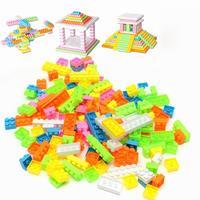 144 pezzi di Costruzione Plastica Mattoni Puzzle Colorati Per Bambini Giocattoli educativi Per Bambini Regalo Di Compleanno