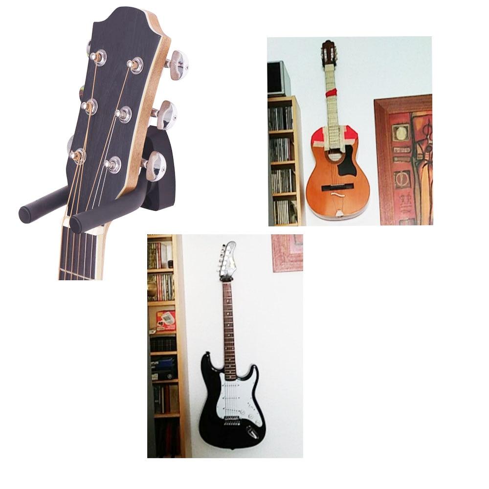Wandhalterung Gitarrenbügel Haken rutschfester Halter Ständer für - Musikinstrumente - Foto 2