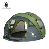 HUI LINGYANG Tent Outdoor Automatic Throwing Tent 4 6 People Pop up Waterproof Camping Mountaineering Tent Large Family Tent