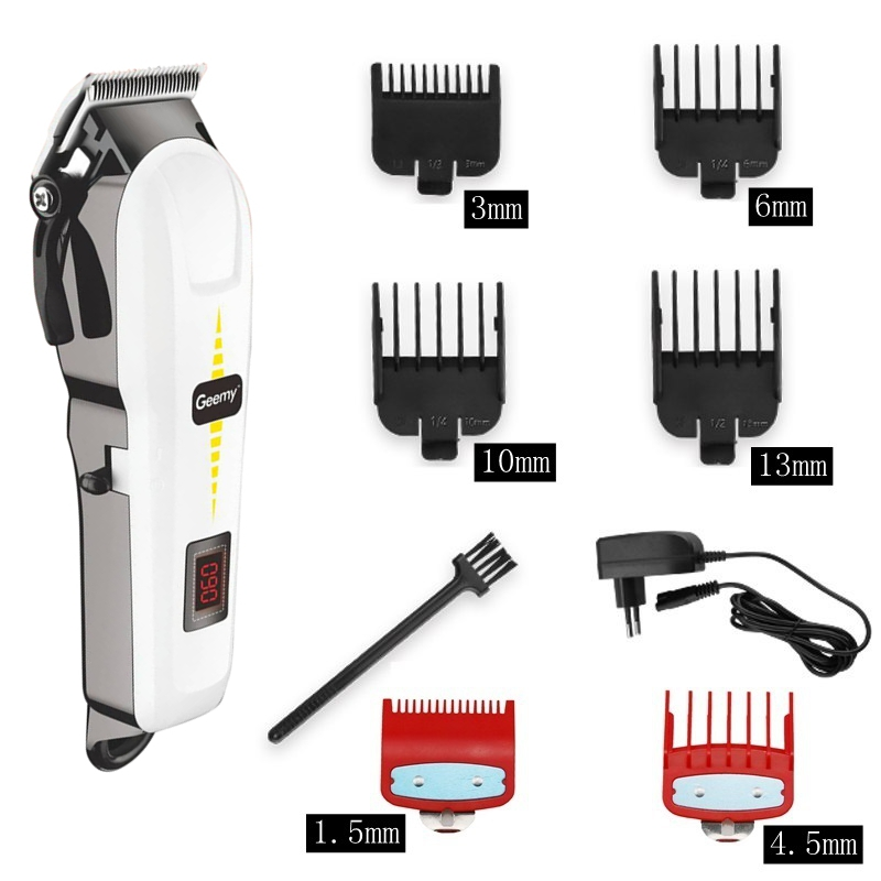 professional barber hair clipper cordless hair trimmer beard trimer for men electric hair cutting machine rechargeable hair cut 3