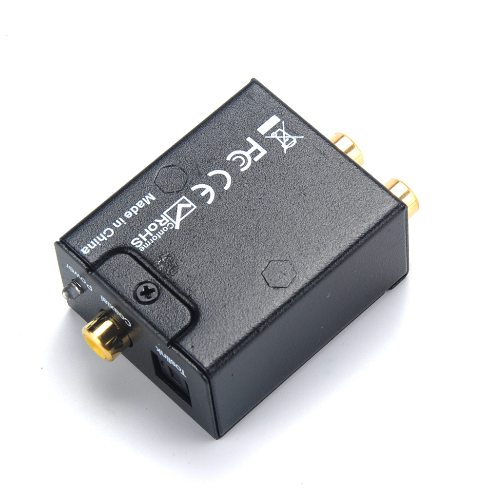 5VDC 1A 0.5W Digital To Analogue Audio Converter Coaxial Coax Optical Toslink  L/R Adapter Standard  Jacks Audio Switching