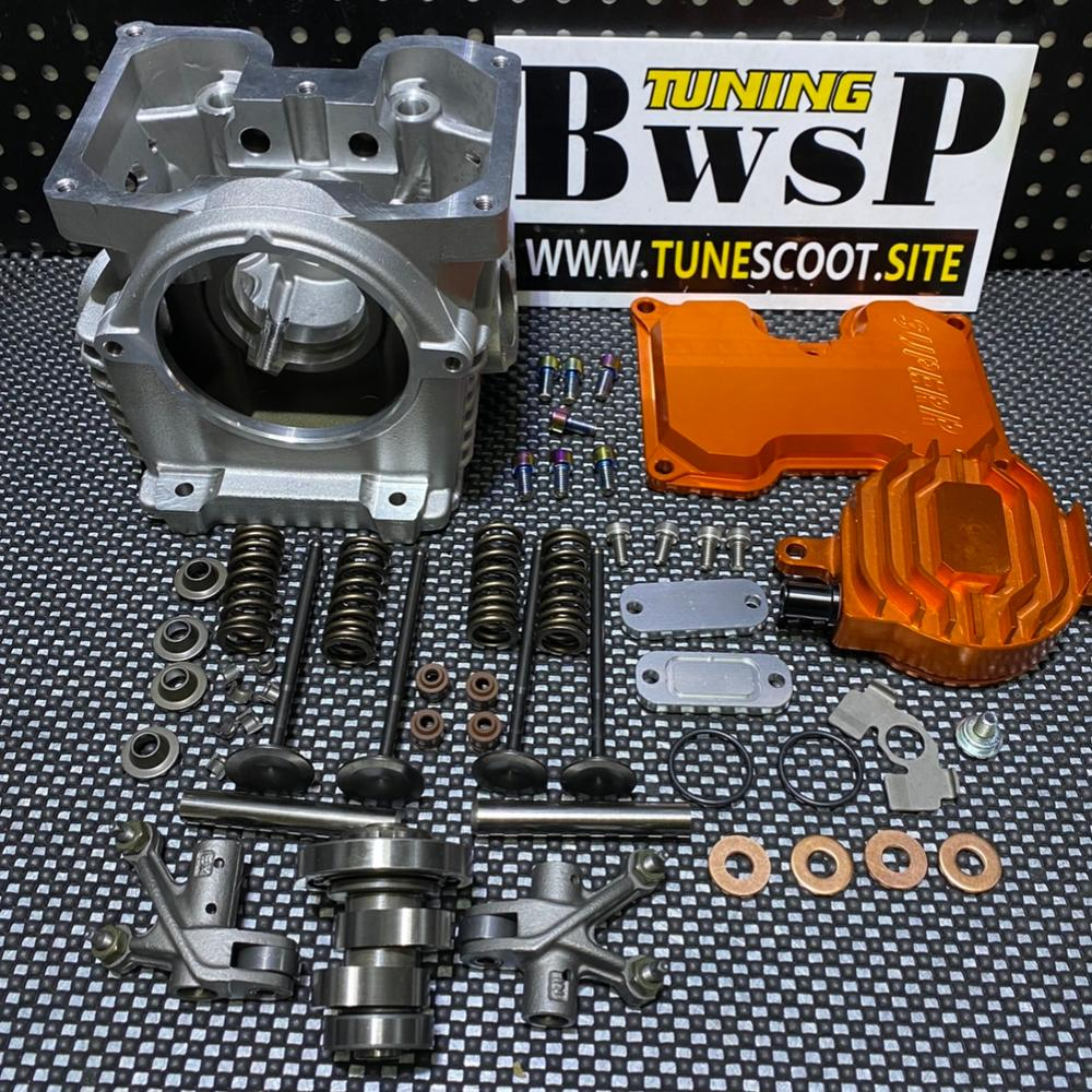 CYLINDER HEAD FOUR VALVES For BWS125 RS100 CYGNUS ZUMA EX23 IN26 With Camshaft Rockers Tuning Engine Parts BWSP