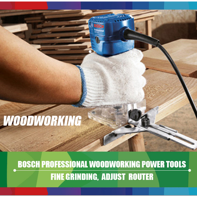 Bosch 550W Woodworking Electric Router trimmer 33000rpm Wood Milling Engraving Slotting Trimming machine Hand Carving Carpentry 4