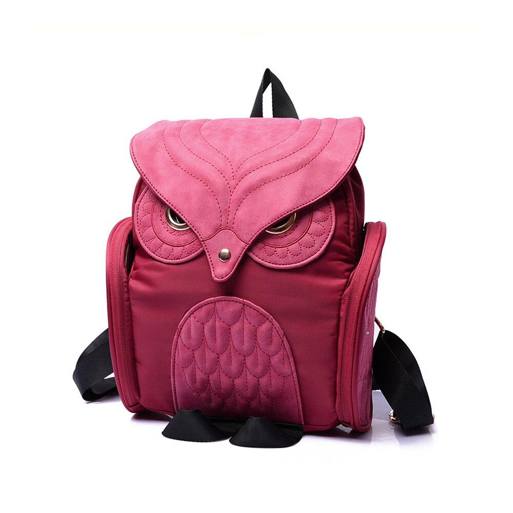Fashion Vintage Owl Elegant Women Men Bag Backpack Women Backpack Travel Shoulder Bag Rucksack