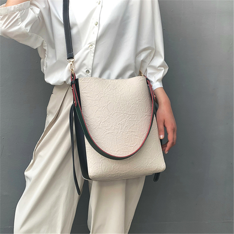ANAWISHARE Women Leather Handbags Bucket Shoulder Bags Crossbody Bags For Women Messenger Bag Bolsa Feminina Bolsos Mujer|Shoulder Bags|   - AliExpress
