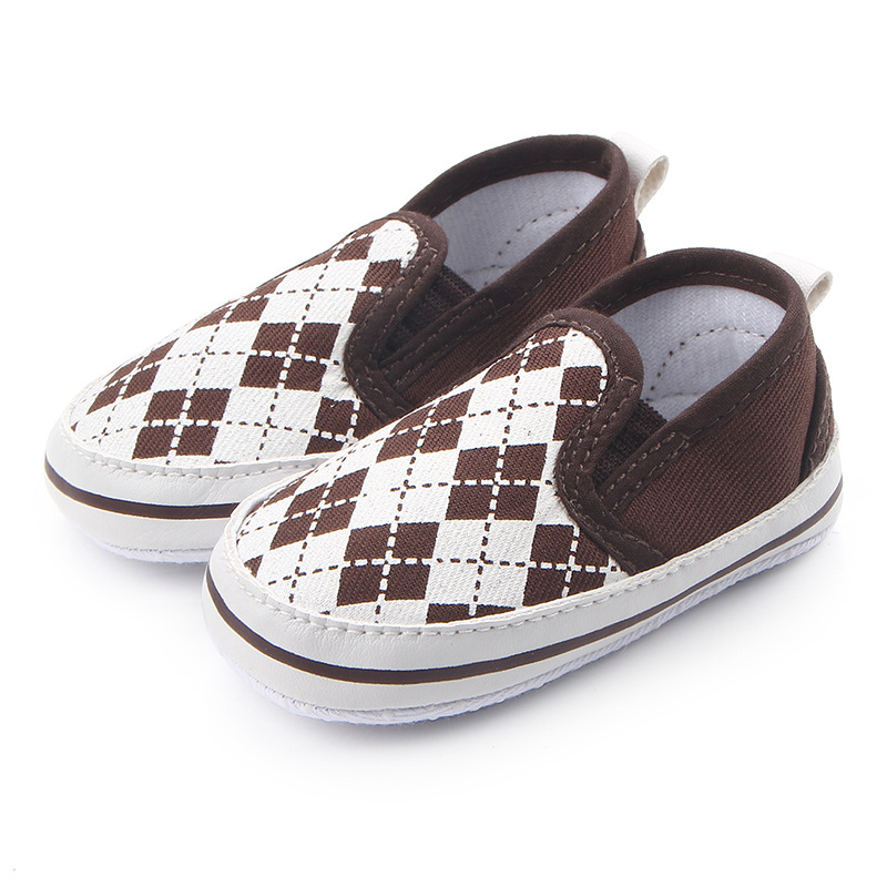 Factory Direct Silk Screen Checkered Baby Baby Feet Shoes Toddler Shoes 0026