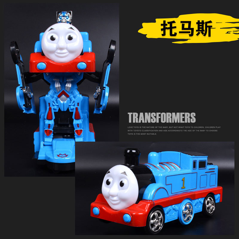 Hot Selling Music Sound Making Electric Child Robot Flash Transformation Toy Car Robot Models