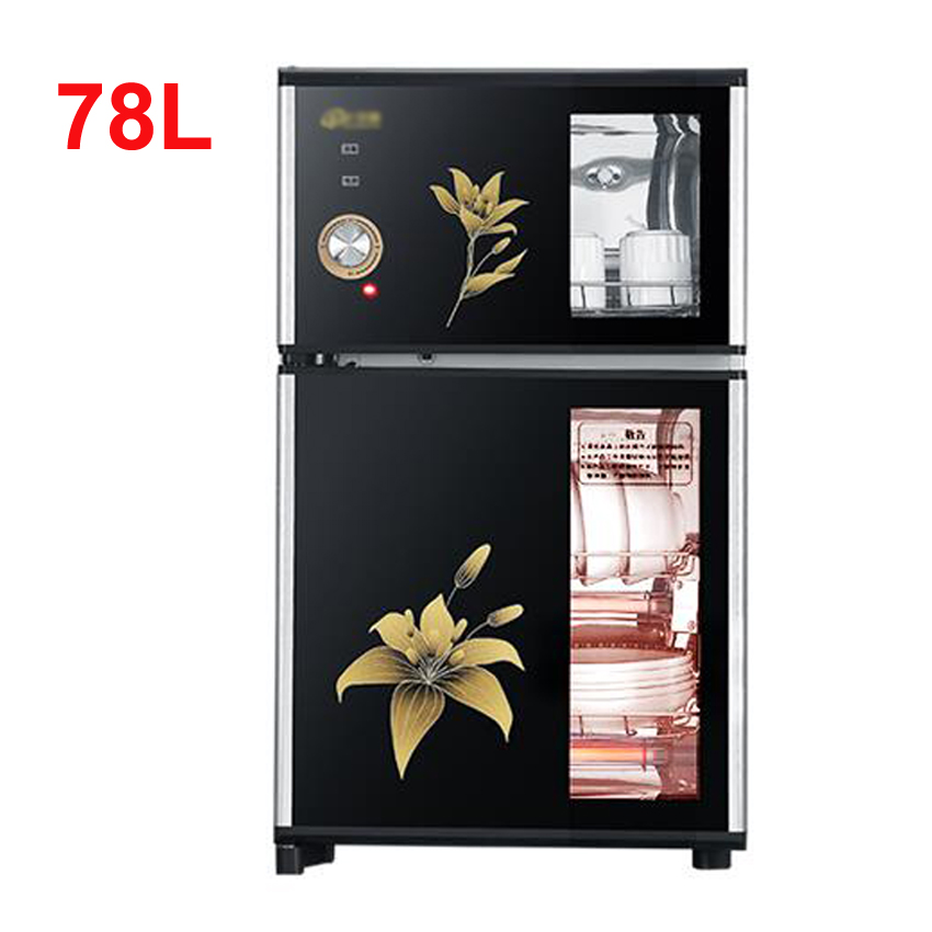 78LElectronic 2-door Disinfection Cabinet Embedded Cabinet Infrared Ultraviolet Disinfection Cupboard LED Touch Screen