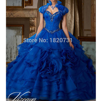 Vestidos de 15 Anos Bead Organza Red Royal Blue Quinceanera Dresses Cheap Quinceanera Dresses Vestido de Debutante Gowns