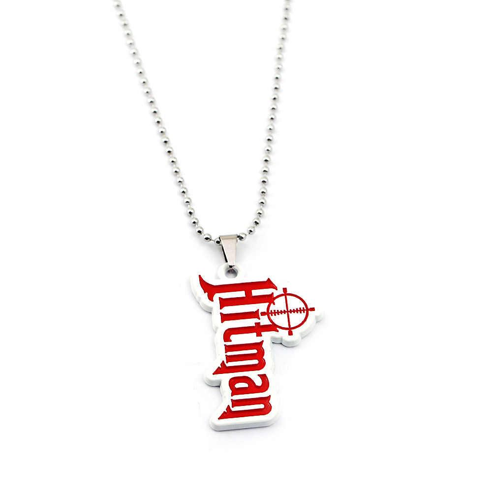 2019 Горячая игра Hitman 2 логотип металлический брелок Подвеска цепи колье ожерелье для мужчин брелок для автомобиля очаровательный брелок ювелирные изделия llaveros