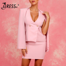 INDRESSME Fashion Women Suit Sets Sexy Tank Top With Long Sleeve Coat Bodycon Solid Mini Women Skirt Party Two Pieces Sets 2019 sexy solid color women two pieces suit sleeveless pullover crop top pencil midi skirt solid bodycon dress 2019 new women sets