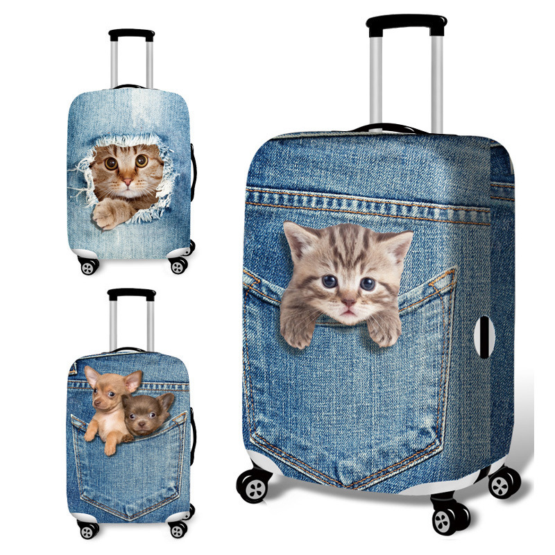 Animal Pattern  Travel Luggage Suitcase Protective Cover Trolley Luggage Bag Cover Men Women Thick Elastic Case For Suitcase